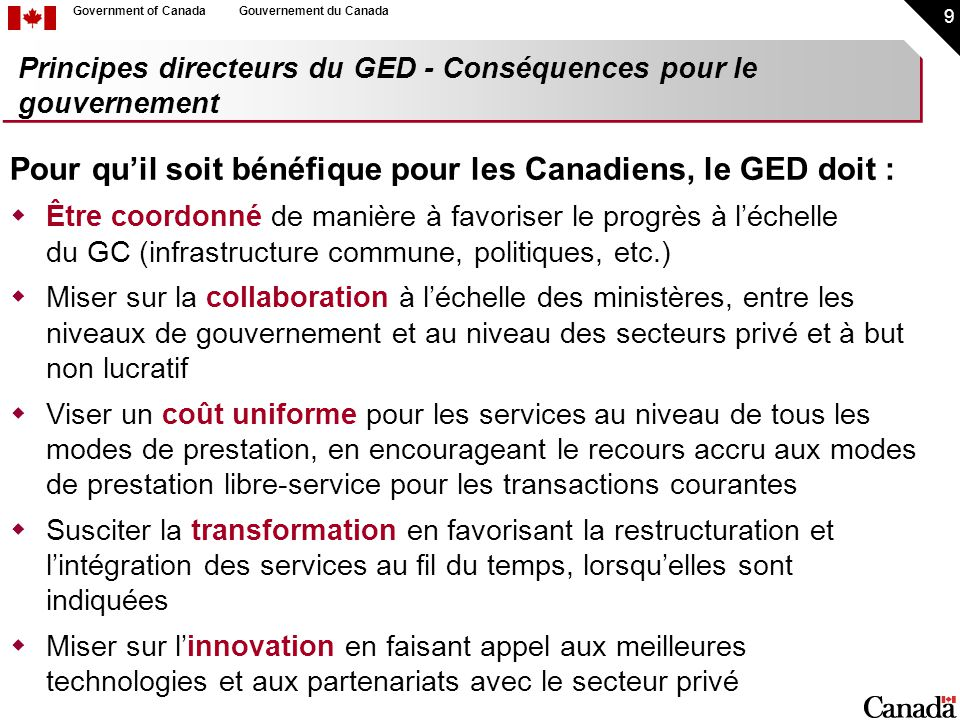 30 Government of CanadaGouvernement du Canada