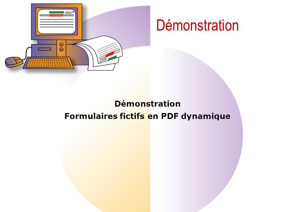 Démonstration Formulaires fictifs en PDF dynamique