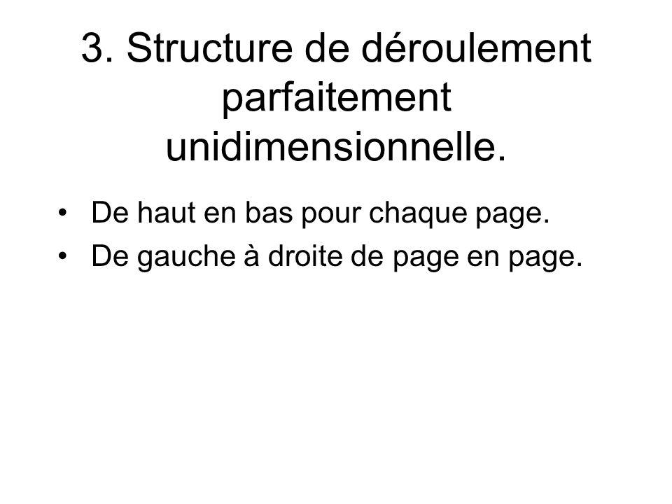 3. Structure de déroulement parfaitement unidimensionnelle.