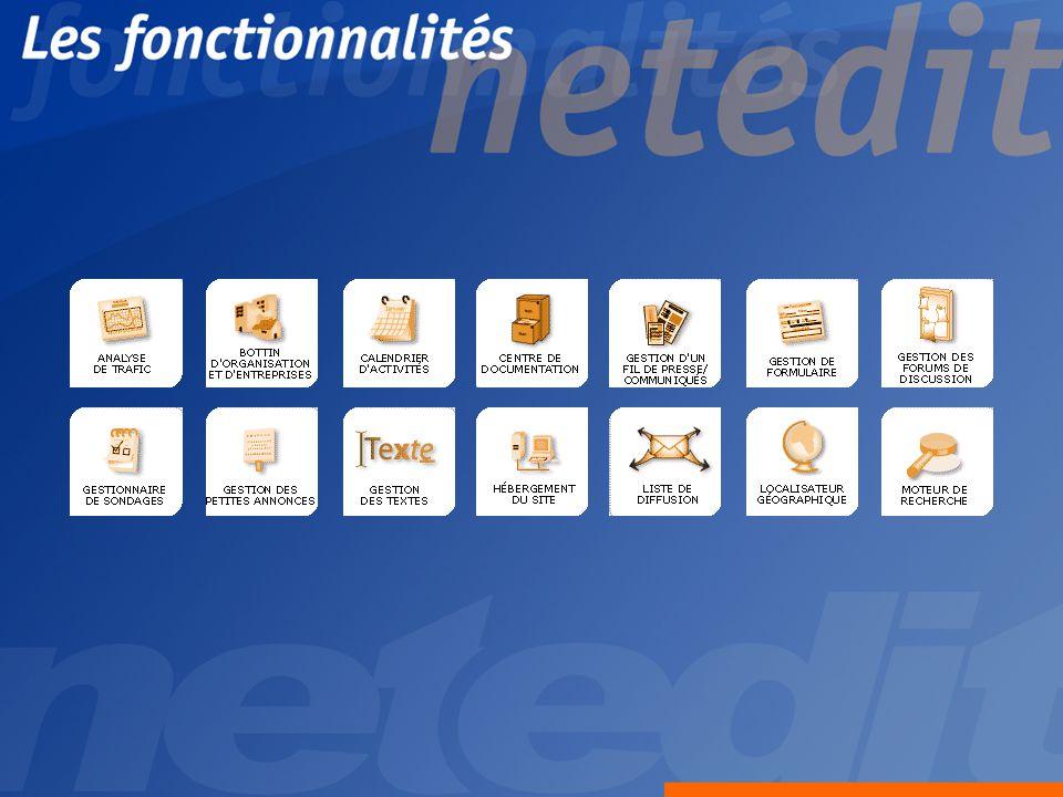 Application.net Possibilité dajout de modules personnalisés Génération de fichiers structurés XML.asp.aspx.php.jsp etc.