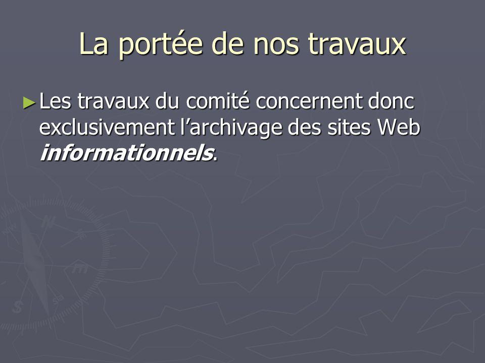 Le tout et la somme des parties La conservation des documents importés nest-elle pas déjà assurée par leurs créateurs.