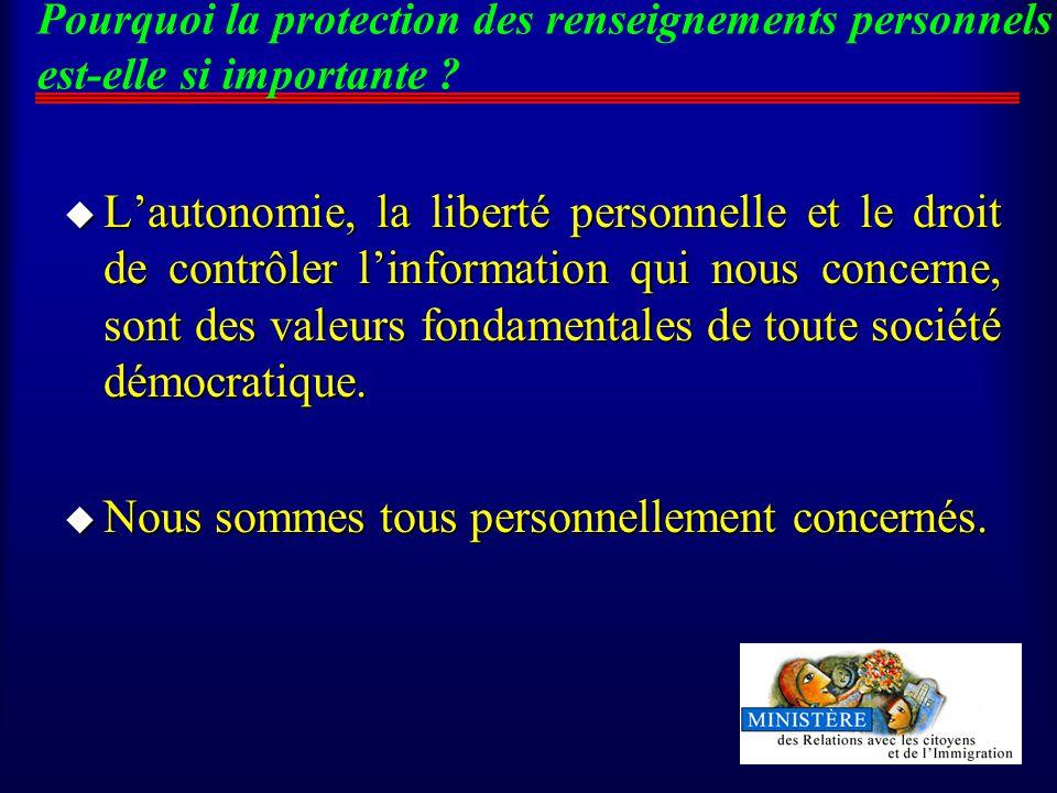 Pourquoi la protection des renseignements personnels est-elle si importante .