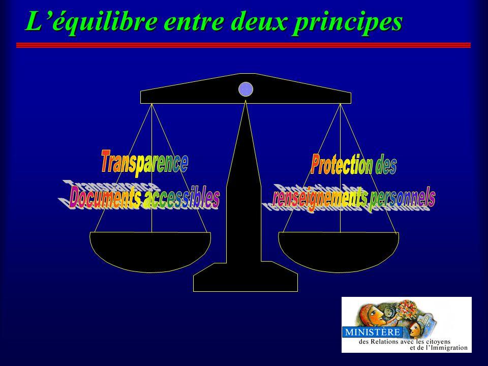 Léquilibre entre deux principes