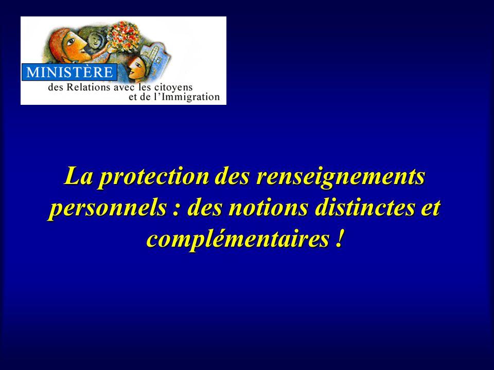 La protection des renseignements personnels : des notions distinctes et complémentaires !