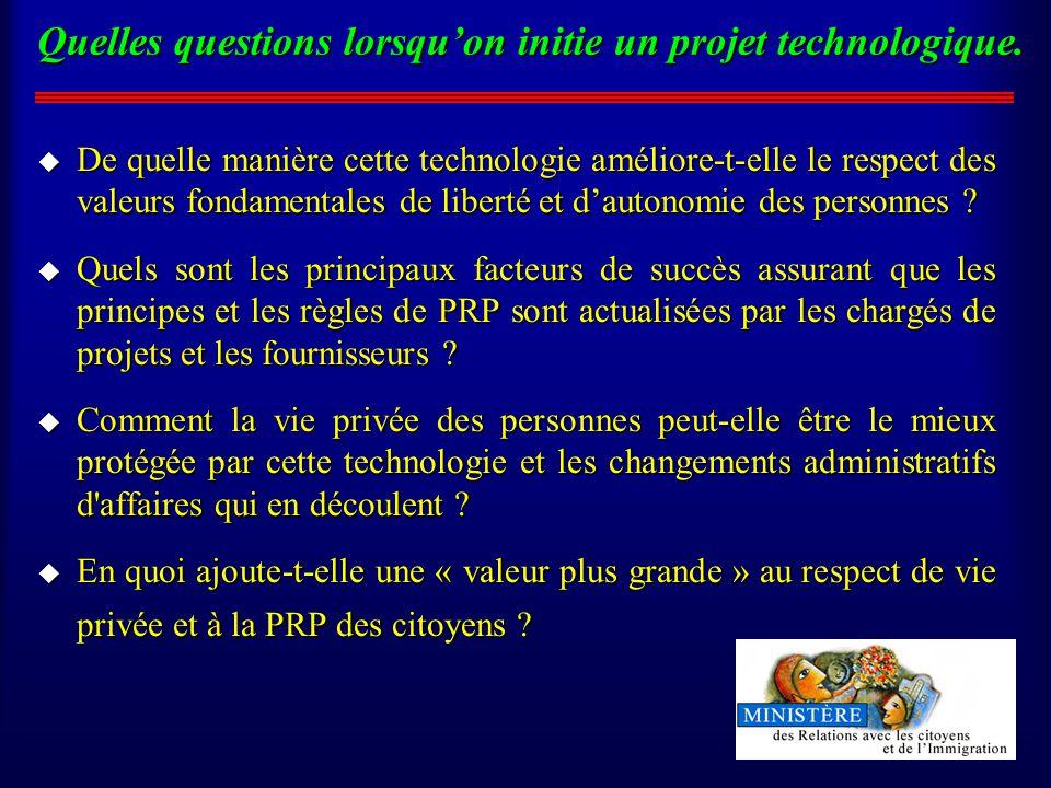 Quelles questions lorsquon initie un projet technologique.