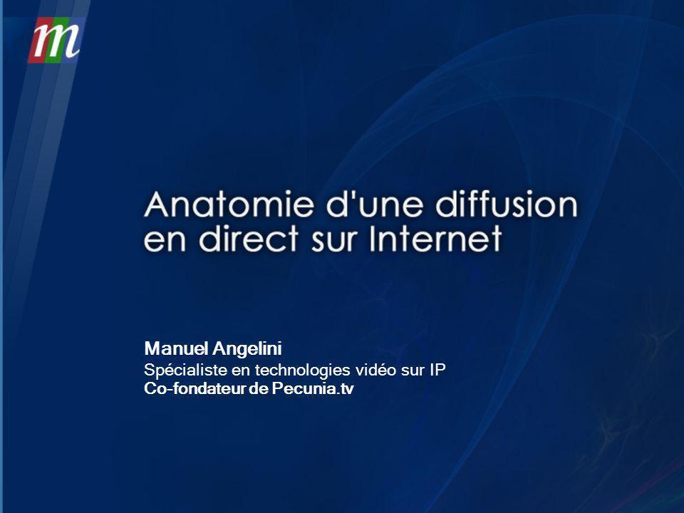 Manuel Angelini Spécialiste en technologies vidéo sur IP Co-fondateur de Pecunia.tv