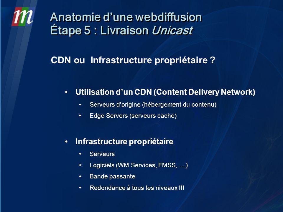 CDN ou Infrastructure propriétaire .