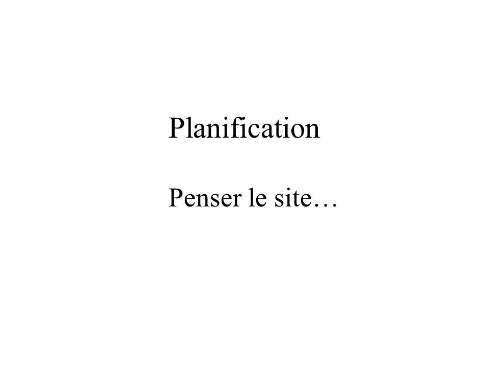 Planification Penser le site…