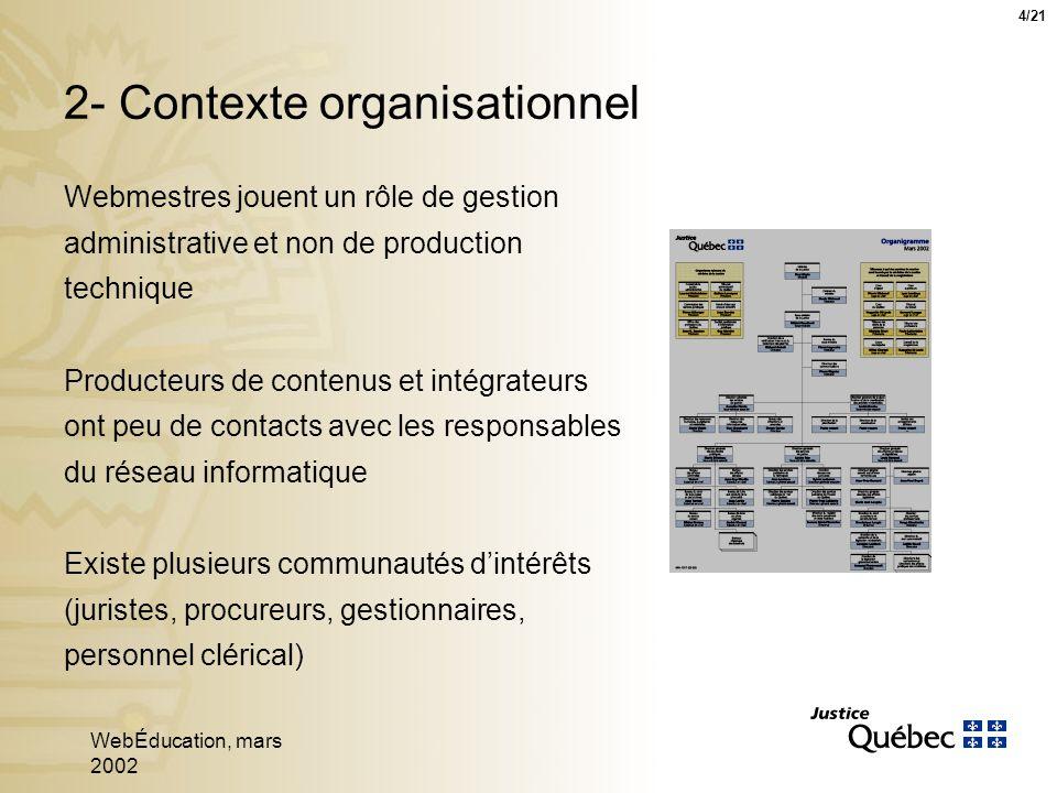 WebÉducation, mars 2002 15 Conception de la navigation - PSP 15/21