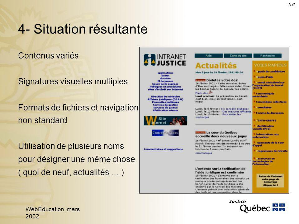 WebÉducation, mars 2002 18 Mécanismes de navigation 18/21