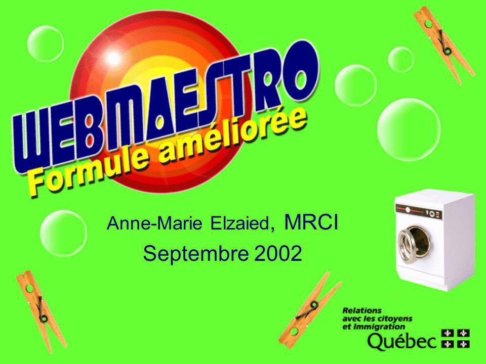 Anne-Marie Elzaied, MRCI Septembre 2002