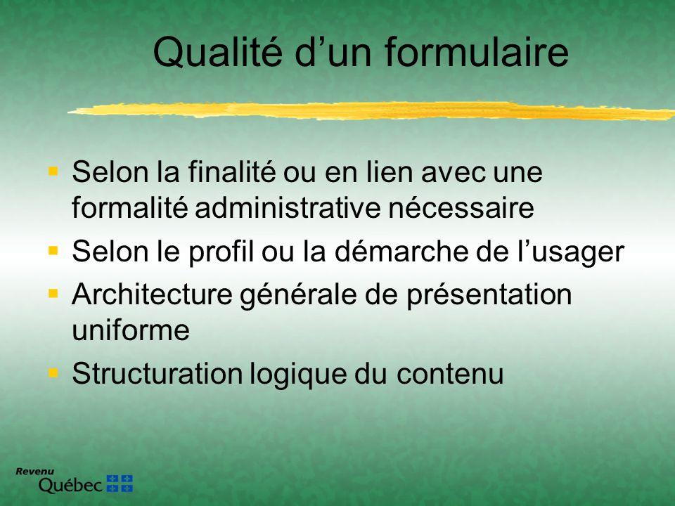 Selon la finalité ou en lien avec une formalité administrative nécessaire Selon le profil ou la démarche de lusager Architecture générale de présentat