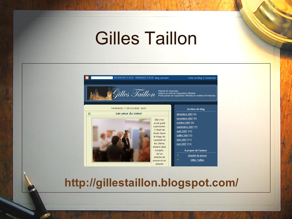 Gilles Taillon http://gillestaillon.blogspot.com/