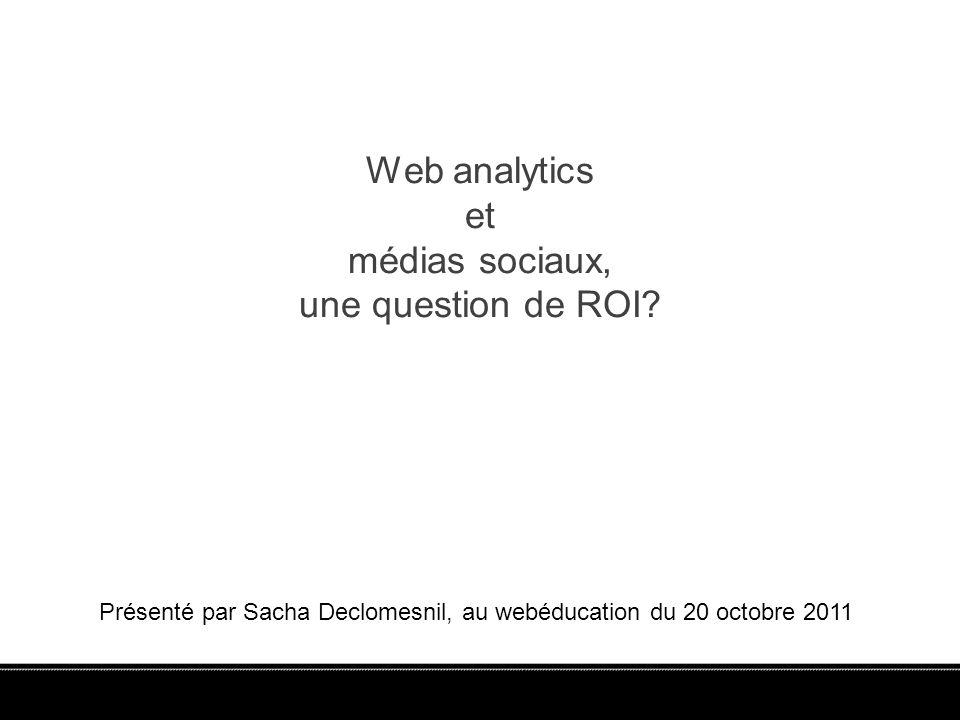 Web analytics et médias sociaux, une question de ROI.