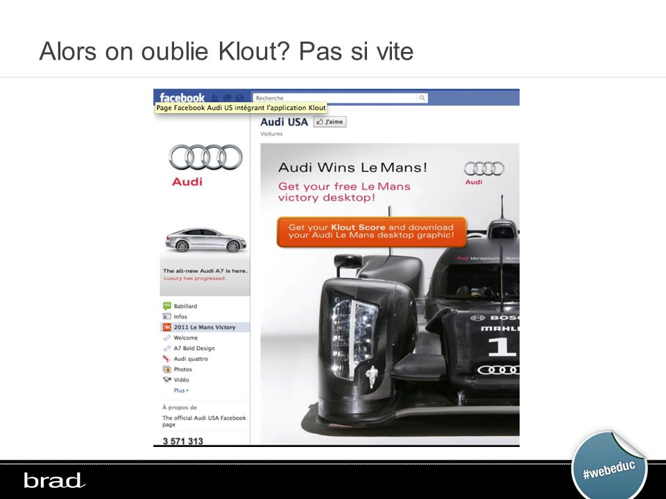 Alors on oublie Klout? Pas si vite