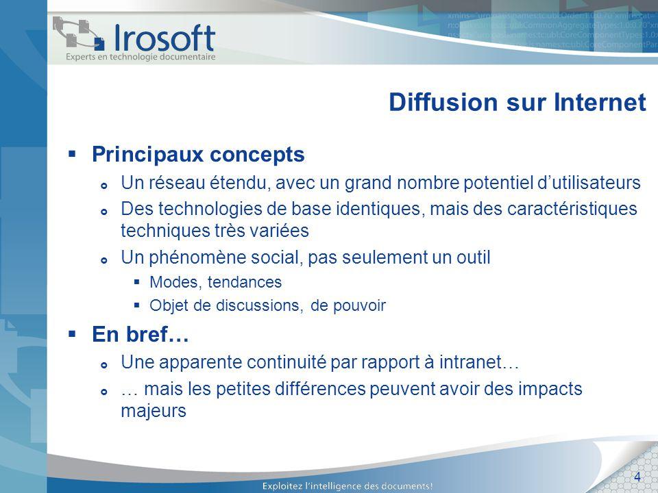 15 Stratégies Prévoir les impacts technologiques Séparation des applications internes et externes.