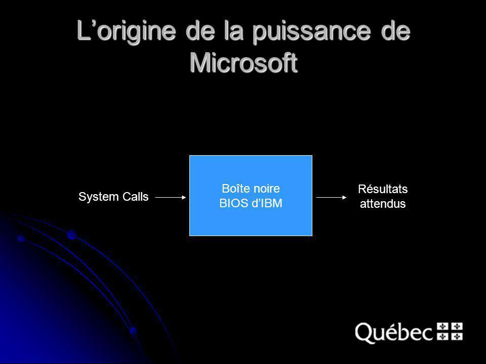 Boîte noire BIOS dIBM System Calls Résultats attendus