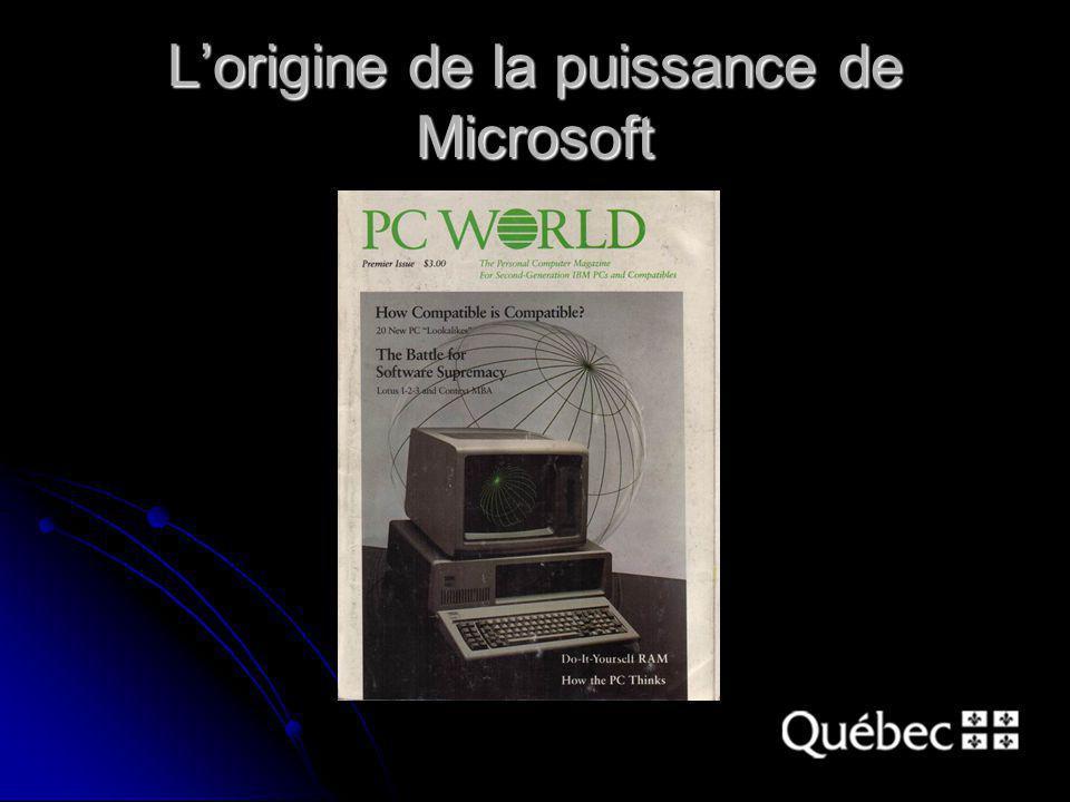 Lorigine de la puissance de Microsoft
