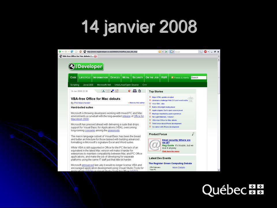 14 janvier 2008