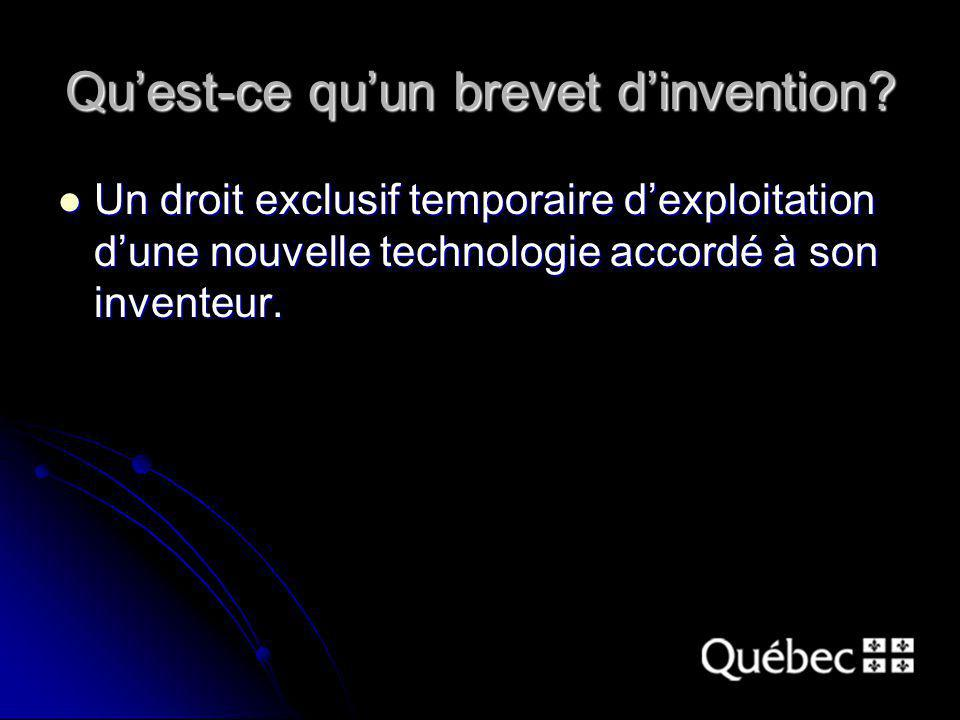 Quest-ce quun brevet dinvention.