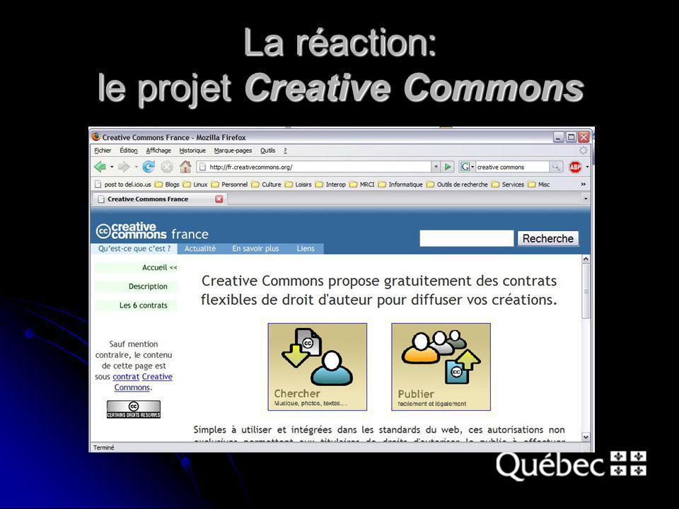 La réaction: le projet Creative Commons