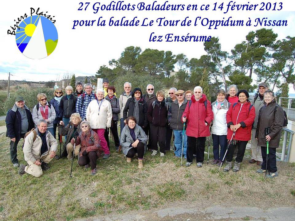 27 Godillots Baladeurs en ce 14 février 2013 pour la balade Le Tour de lOppidum à Nissan lez Ensérume
