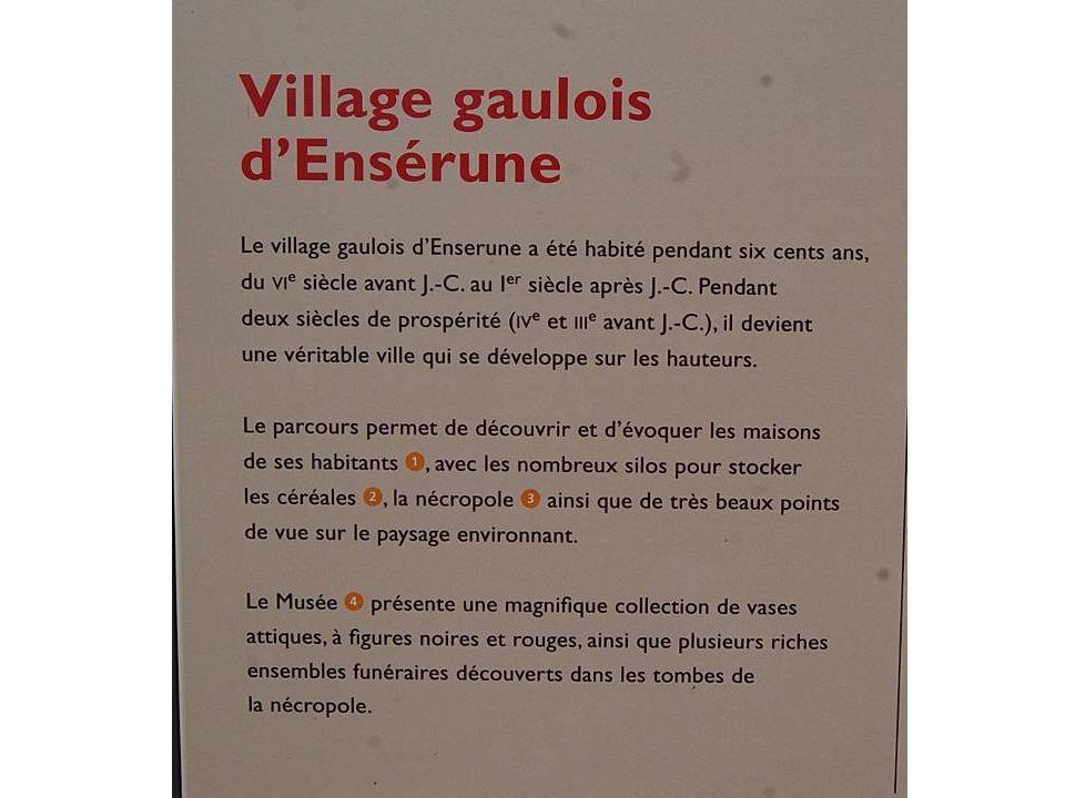 Village gaulois dEnsérume VIème avant JC
