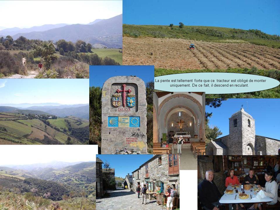 Le 19 : De Vega de Valcarces à O Cebreiro Ruitelan Las Herrerias : Nous quittons le Bierzo Dans les gorges de la Faba. Fort dénivelé de 600 m avant da