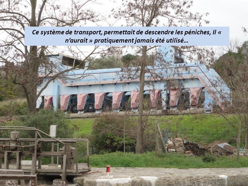 Ce système de transport, permettait de descendre les péniches, Il « naurait » pratiquement jamais été utilisé…