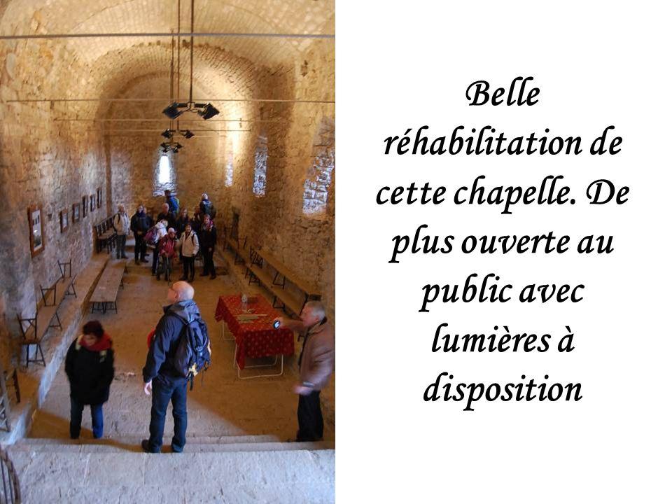 Belle réhabilitation de cette chapelle. De plus ouverte au public avec lumières à disposition