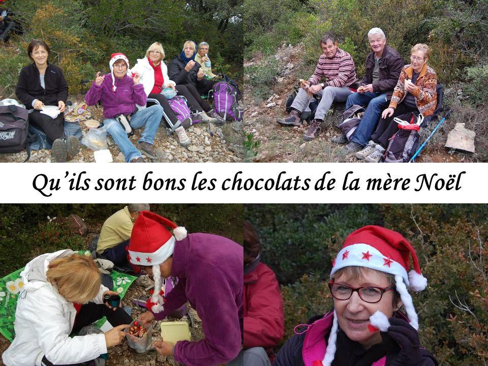 Quils sont bons les chocolats de la mère Noël