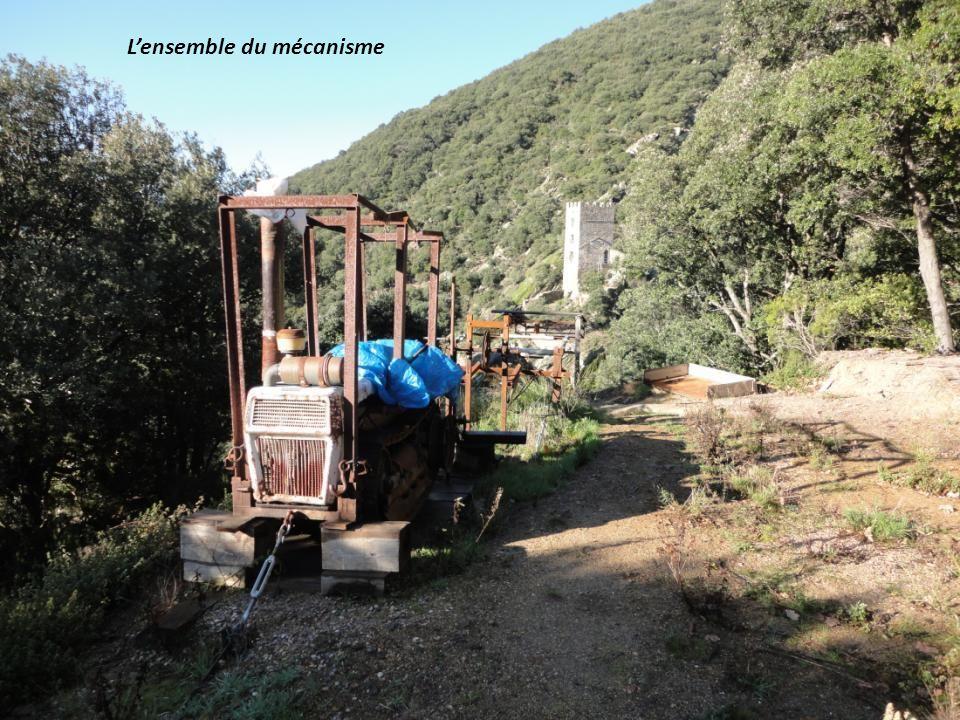 La tyrolienne pour transporter les matériaux