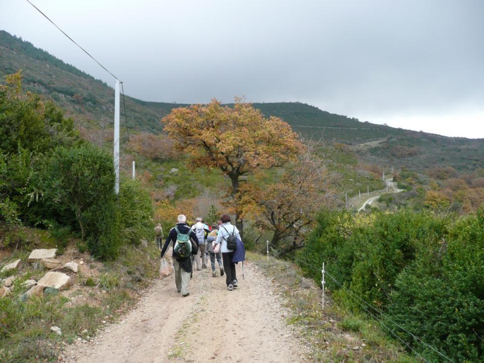 Notre chemin nous conduit à présent vers la ferme dite de Milhau.