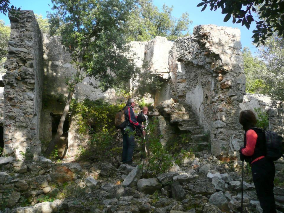 Nous avons atteint les ruines du Mas de lArbousier