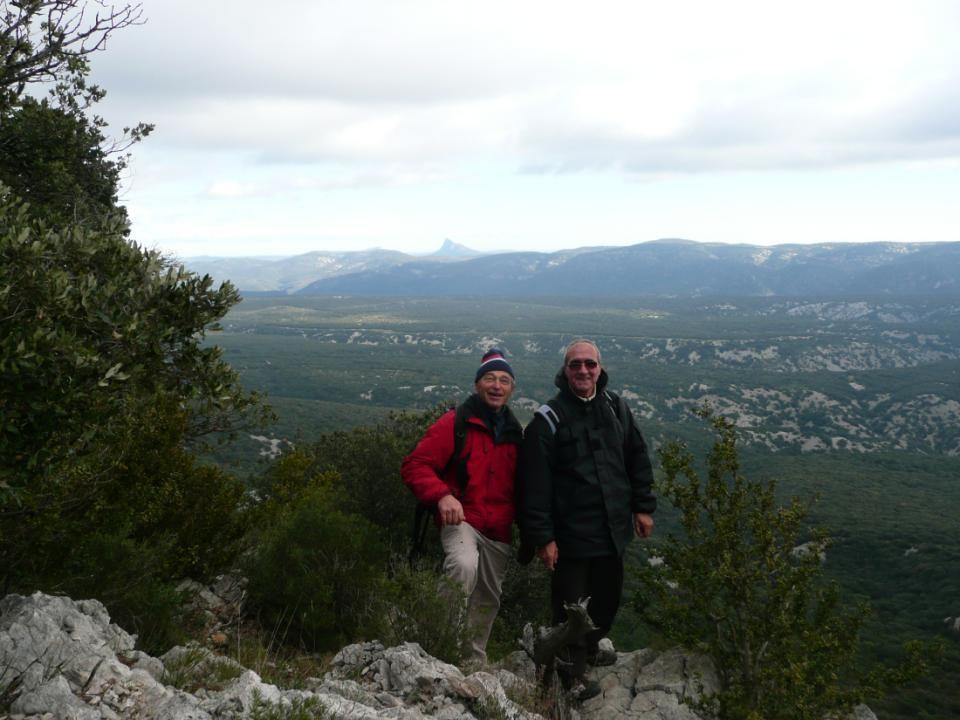 Au loin : le Pic Saint Loup et lHortus