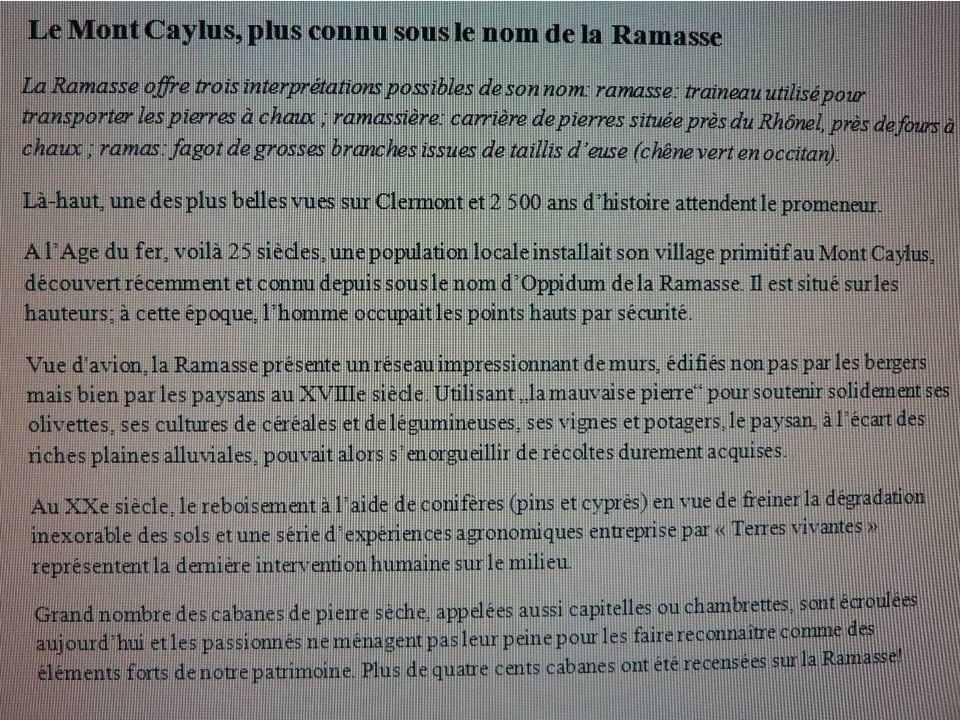 Cest reparti vers le Mont Caylus ou la Ramasse
