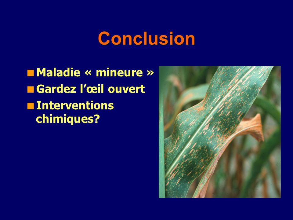 Conclusion Maladie « mineure » Gardez lœil ouvert Interventions chimiques?