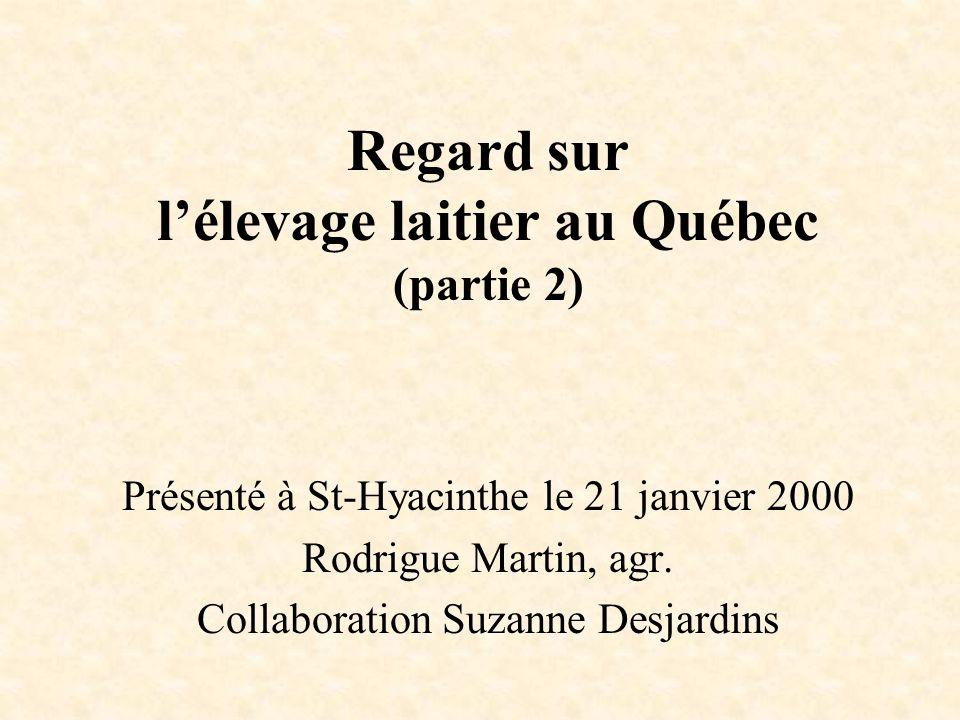 Présenté à St-Hyacinthe le 21 janvier 2000 Rodrigue Martin, agr.