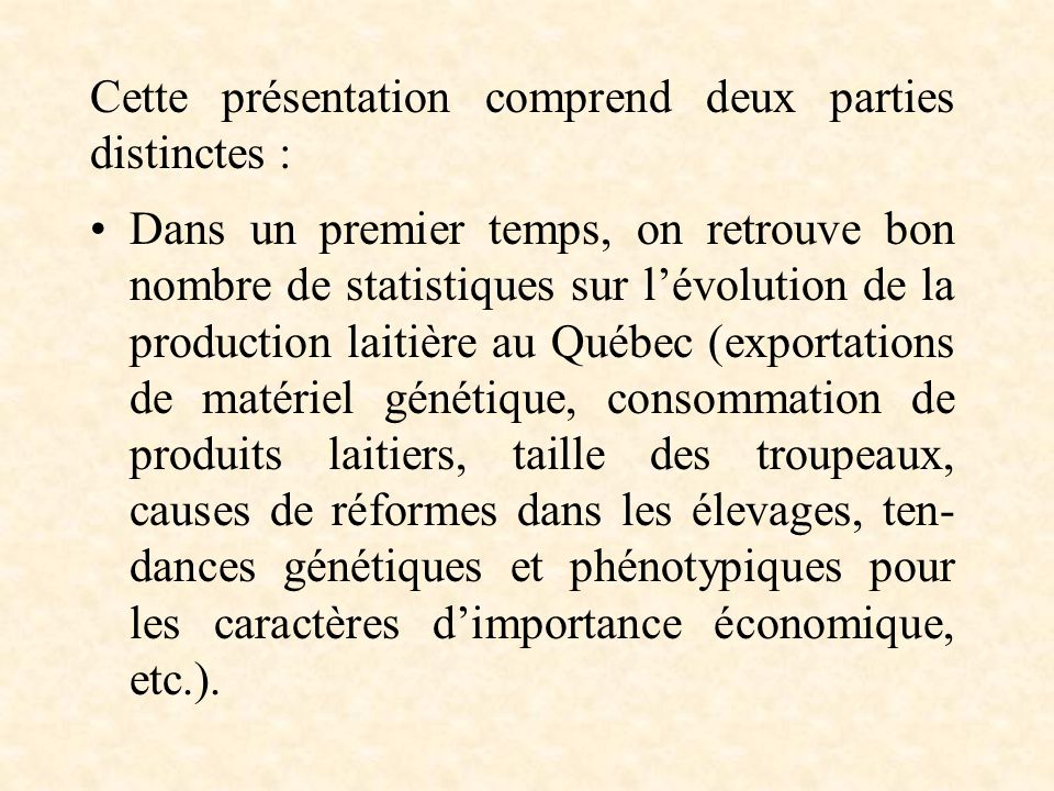Dans un deuxième temps, on présente des analyses effectuées à partir de la fiche den- registrement des exploitations agricoles du Québec (révision 1999 de linscription de 1997).