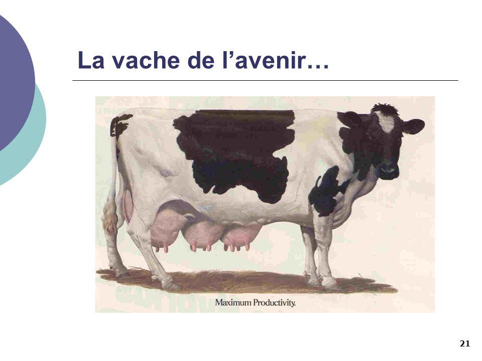 21 La vache de lavenir…