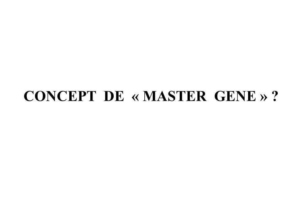 CONCEPT DE « MASTER GENE » ?