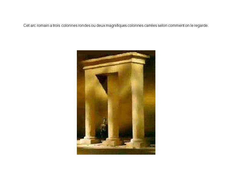 Cet arc romain a trois colonnes rondes ou deux magnifiques colonnes carrées selon comment on le regarde.