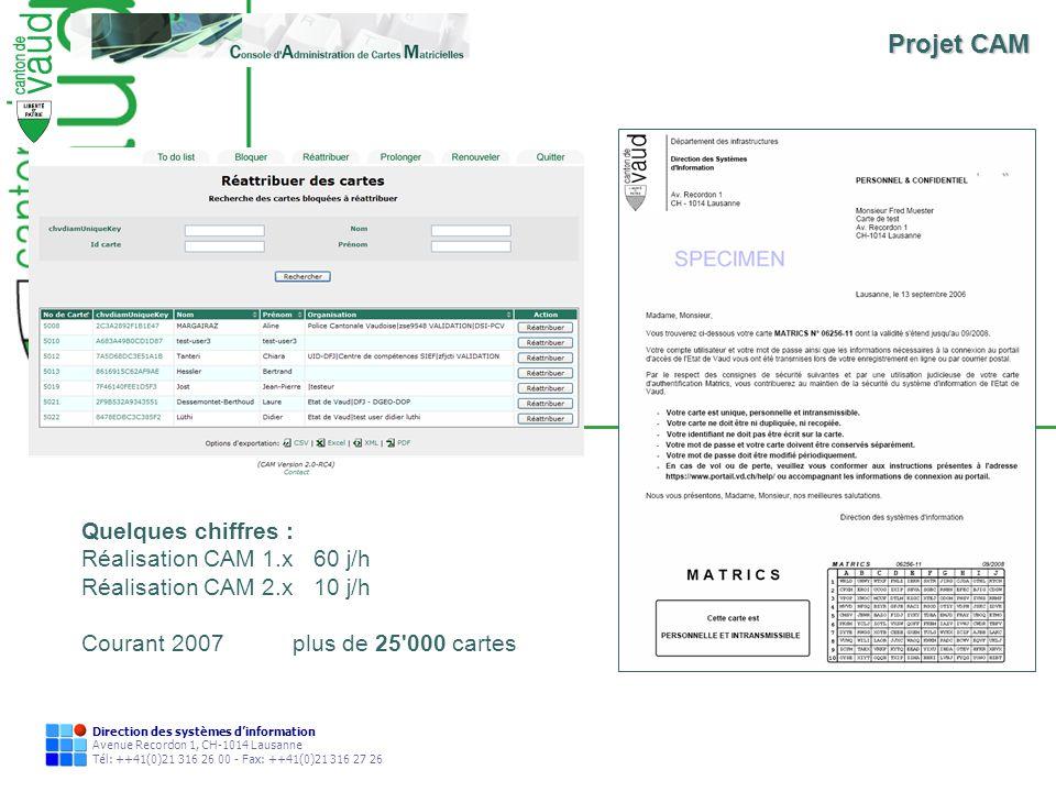 Direction des systèmes dinformation Avenue Recordon 1, CH-1014 Lausanne Tél: ++41(0)21 316 26 00 - Fax: ++41(0)21 316 27 26 Quelques chiffres : Réalis