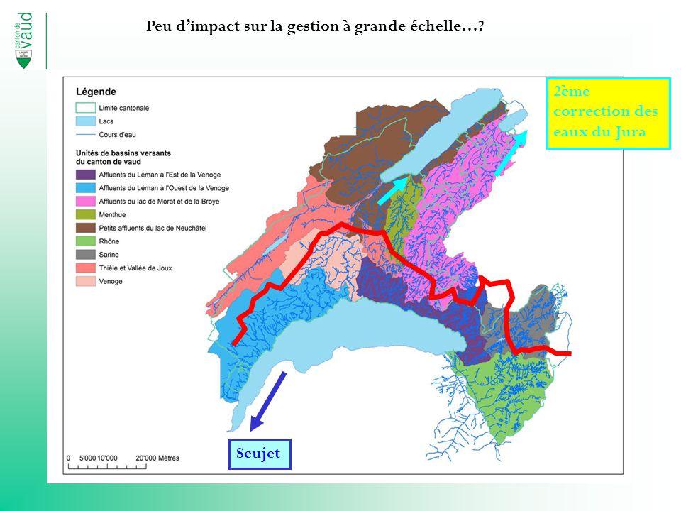 Seujet 2ème correction des eaux du Jura Peu dimpact sur la gestion à grande échelle…