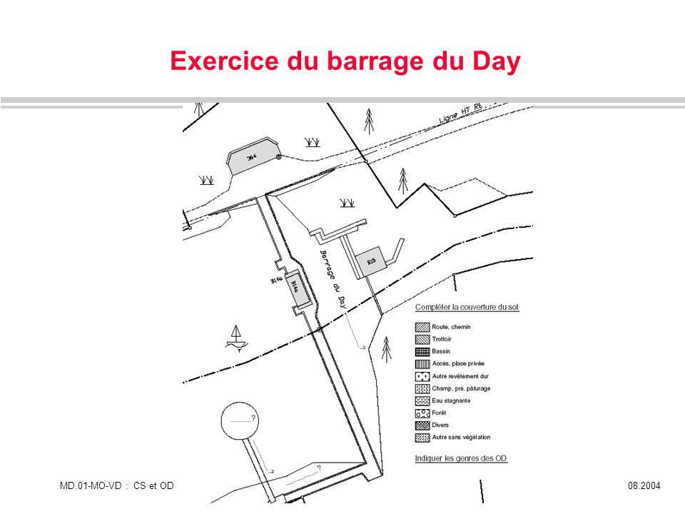 MD.01-MO-VD : CS et ODPage 1408.2004 Exercice du barrage du Day