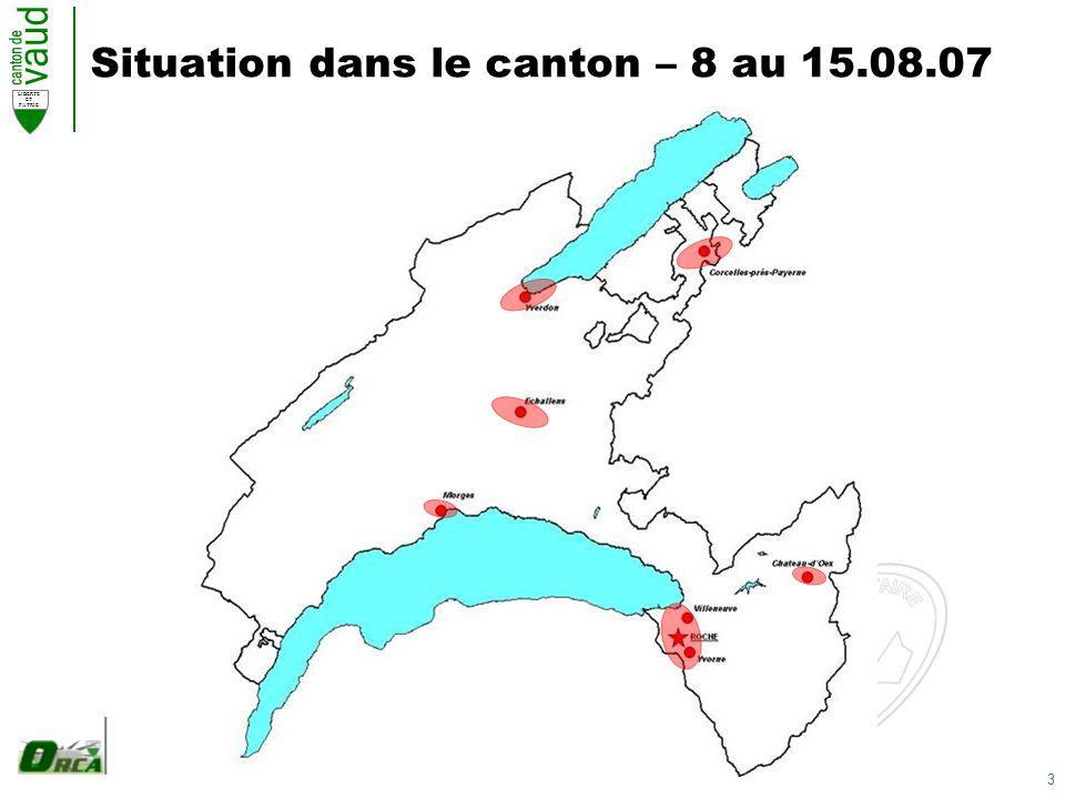 3 LIBERTE ET PATRIE Situation dans le canton – 8 au 15.08.07