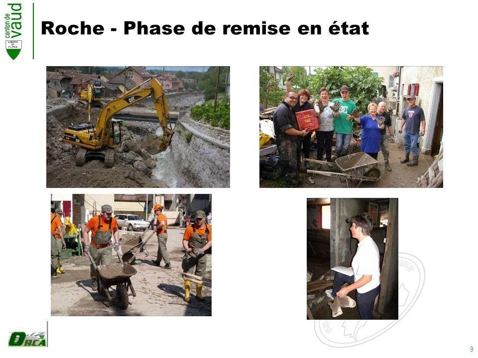 9 LIBERTE ET PATRIE Roche - Phase de remise en état
