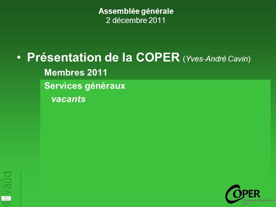 Merci de votre participation ! Apéritif Assemblée générale 2 décembre 2011