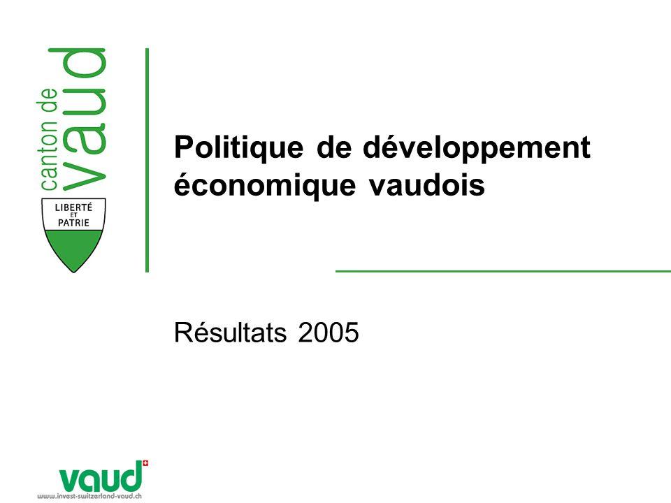 Politique de développement économique vaudois Résultats 2005