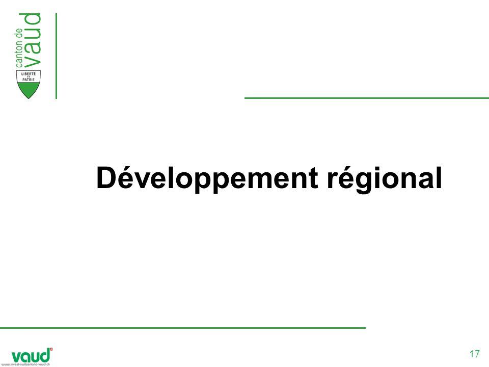 17 Développement régional